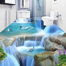 Personalizzato Dolphin 3D Pavimenti Adesivo Murale