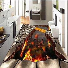 Personalizzato murale 3D stereoscopico fiamme
