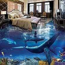 Personalizzato pavimento 3D pittura balena delfino