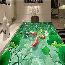 Pesce Felice 3D Pavimento Carta Da Parati