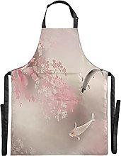 Pesci Fiore Rosa Art Impermeabile Grembiule Cucina