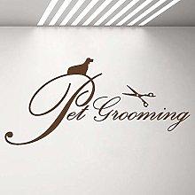Pet Grooming Logo Sign Wall Window Decal Pet Care