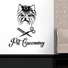 Pet Grooming Wall Sticker Forbici Pet Grooming