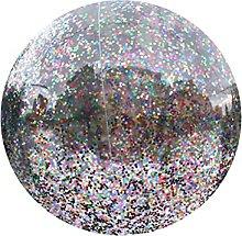 PHILSP Pallone da Spiaggia Gonfiabile Glitter