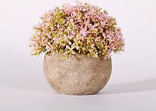 Pianta artificiale Bonsai con vaso grigio, per