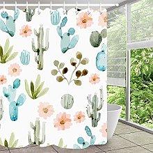 Pianta cactus pittura a inchiostro semplice tenda