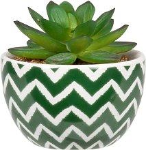 Pianta grassa artificiale con vaso in ceramica con