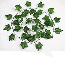 Piante Artificiali 200 Cm Foglie Verdi Seta