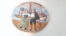 Piatto Decorato con Bassorilievo \Messina\