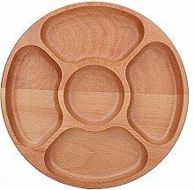 Piatto di servizio in legno, diviso piatto di