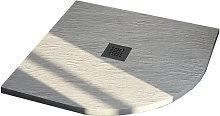 Piatto Doccia 100X100 semicircolare effetto