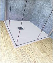 Piatto doccia 60x60 cm altezza 2.5 cm resina bianco