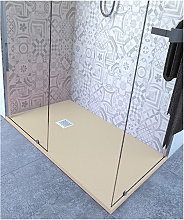 Piatto doccia 60x80 cm altezza 2.5 cm resina avorio