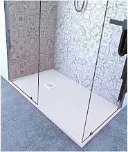 Piatto doccia 65x95 cm altezza 2.5 cm resina bianco