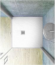 Piatto doccia 70x70 cm altezza 2.5 cm resina bianco