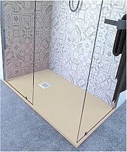 Piatto doccia 75x75 cm altezza 2.5 cm resina avorio
