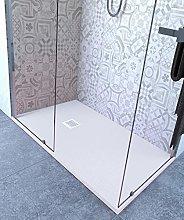 Piatto Doccia 75x95 cm Altezza 2.5 cm Resina Bianco