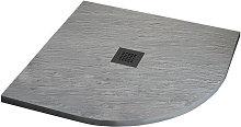 Piatto Doccia 80X80 semicircolare effetto Ardesia