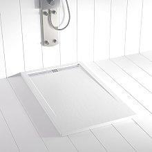 Piatto doccia ardesia pietra FLOW Bianco - 70x110