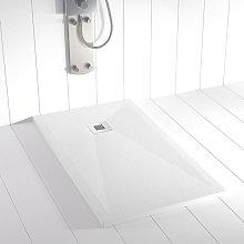 Piatto doccia ardesia pietra PLES Bianco - 80x90 cm