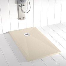 Piatto doccia ardesia pietra PLES Crema - 80x80 cm