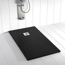 Piatto doccia ardesia pietra PLES Nero - 80x90 cm