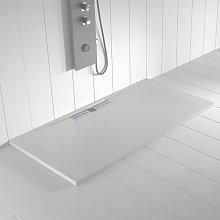 Piatto doccia ardesia pietra WIDE Bianco - 80x90 cm