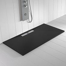 Piatto doccia ardesia pietra WIDE Nero - 210x90 cm