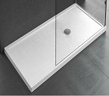Piatto doccia da appoggio 12.5 cm bianco lucido