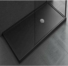 Piatto doccia da appoggio 12.5 cm nero Novellini