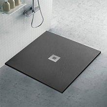 Piatto doccia filo pavimento 100x100 in resina