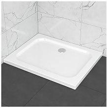 Piatto doccia slim in ABS 80x100, effetto