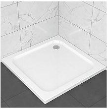 Piatto doccia slim in ABS 80x80, effetto ceramica.