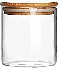 Piccolo barattolo in vetro con coperchio in