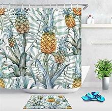 Piccolo fresco foglie ananas pittura a olio tenda