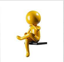 Piccolo Uomo Giallo Statua Scultura, Arte Astratta