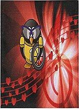 Pinguino Musicale Bandiera del Giardino Banner
