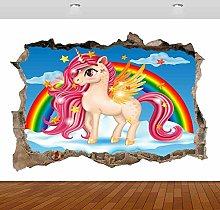 Pink Horse Rainbow murale decalcomania adesivo da