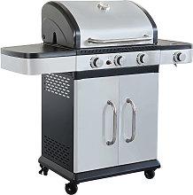 PIROS - barbecue a gas in acciaio inox 3 fuochi +