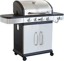 PIROS - Barbecue a gas in acciaio inox 4 fuochi +
