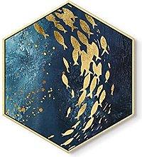 Pittura a muro Golden Semplice Creativo Soggiorno