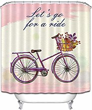 Pittura a olio colore bicicletta cesto fiore