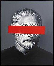Pittura A Olio Cornice Incognito Filosofia 100x80