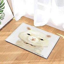 Pittura. Alpaca. Tappetino Da Bagno: 40X60 Cm.