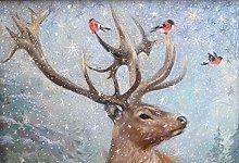 pittura con numeri Alce animale per adulti bambini