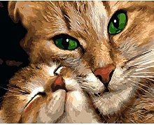 pittura con numeri Animale carino gatto per adulti