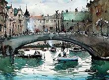 pittura con numeri Città di mare per adulti