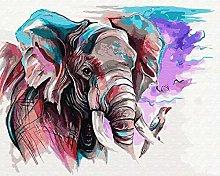 pittura con numeri elefante animale per adulti