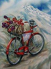 pittura con numeri Fiore della bicicletta per