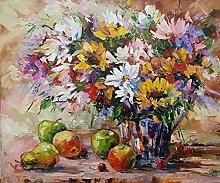 pittura con numeri fiore fiore per adulti bambini